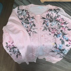 Charter Club floral sweater
